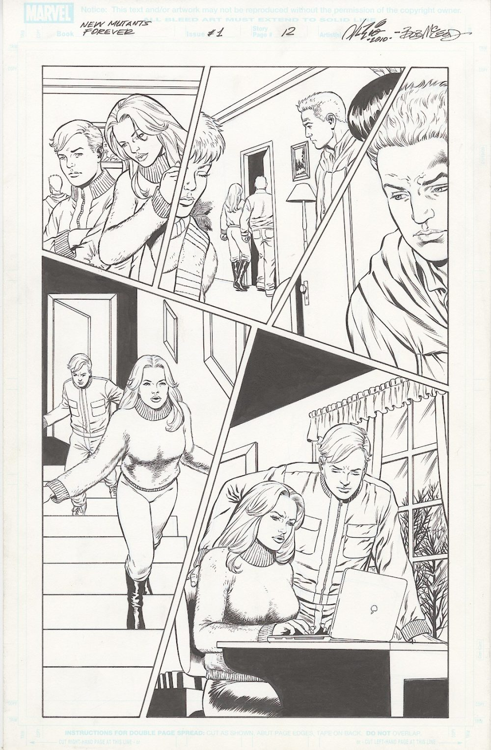 New Mutants Forever – #1, page 12 – pencils by Al Rio, Inks by Bob McLeod, Script by Chris Claremont